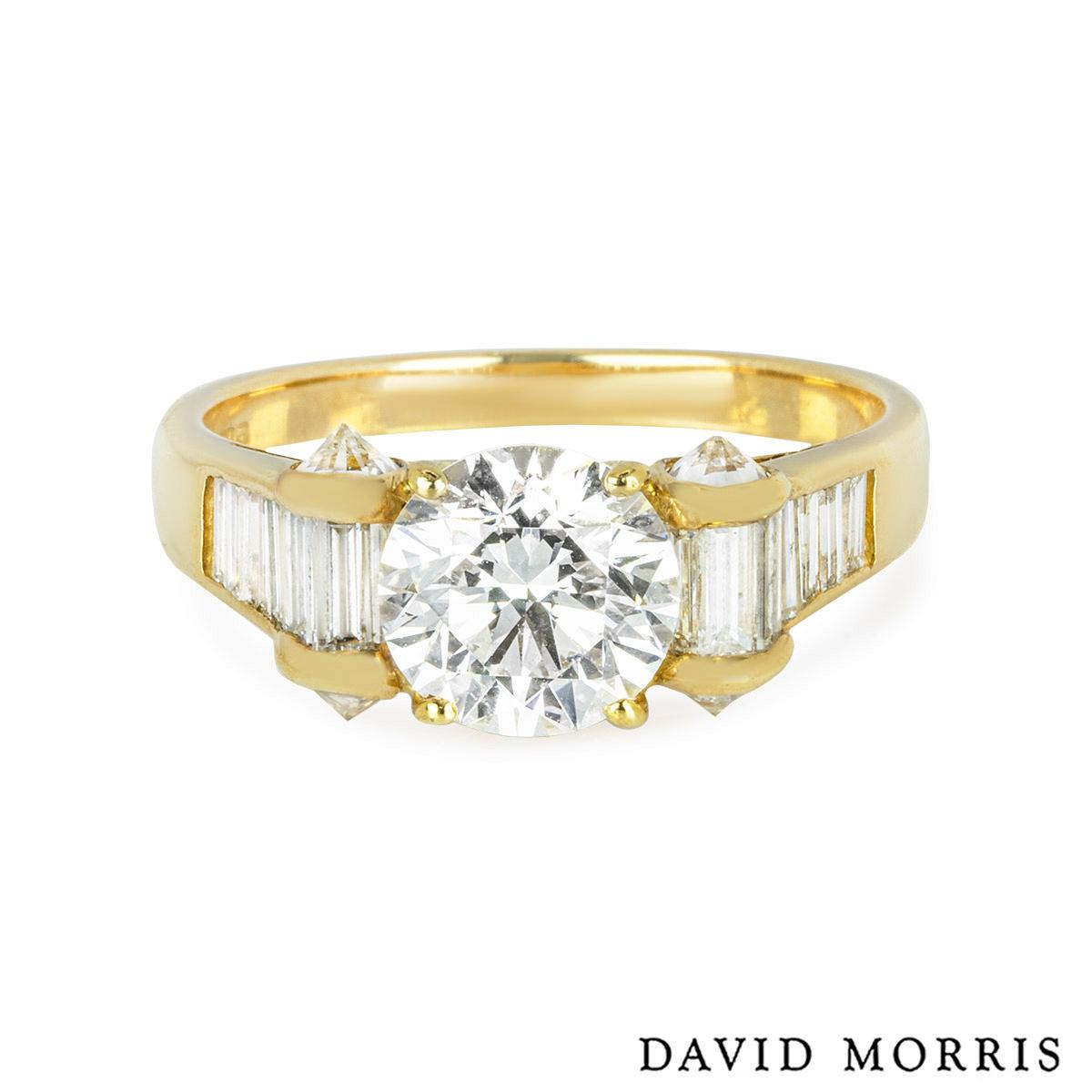 David Morris Yellow Gold Diamond Ring 1.40ct H/VS1